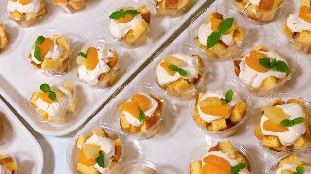 桃のデザート