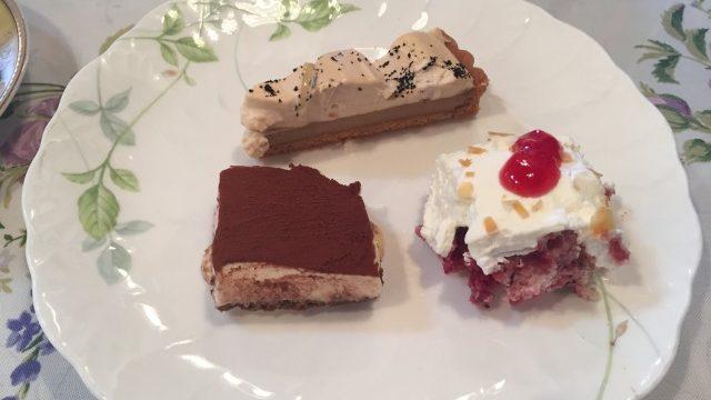 ケーキ3種盛り