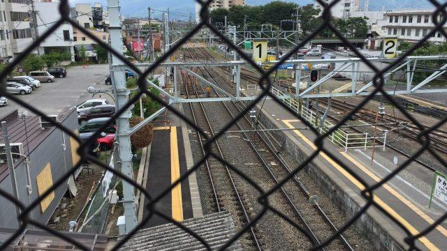 上から見た上諏訪駅
